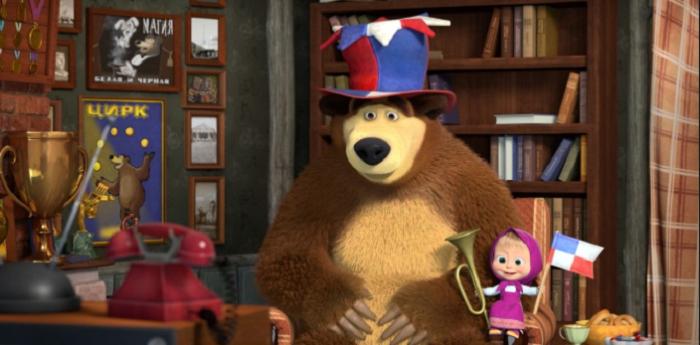 Masha e orso arrivano in tv i nuovi episodi ispirati ai mondiali di