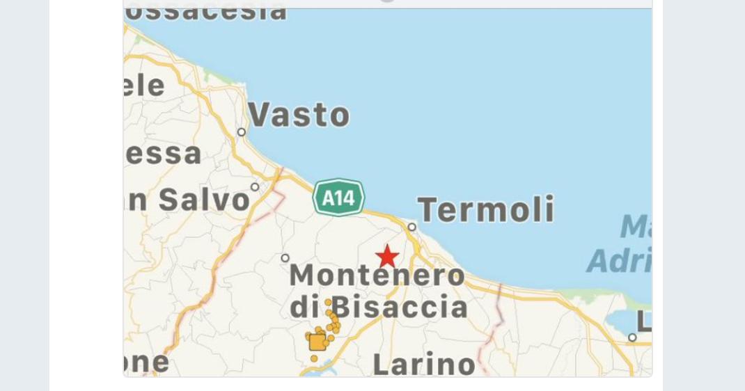 Terremoto in Molise, scossa avvertita anche in provincia di Napoli e in Puglia