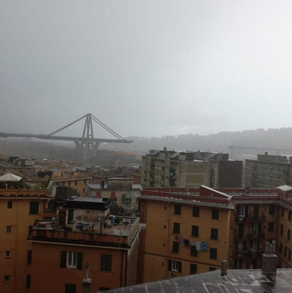 Antonella Clerici sconvolta dalla tragedia del ponte crollato a Genova (Foto)