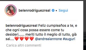 Belen Rodriguez fa gli auguri ad Andrea Iannone per il suo compleanno (Foto)