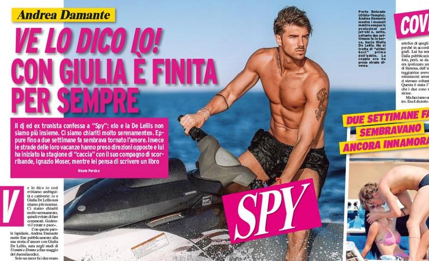 Andrea Damante dice addio a Giulia de Lellis: i dettagli sulla rivista Spy