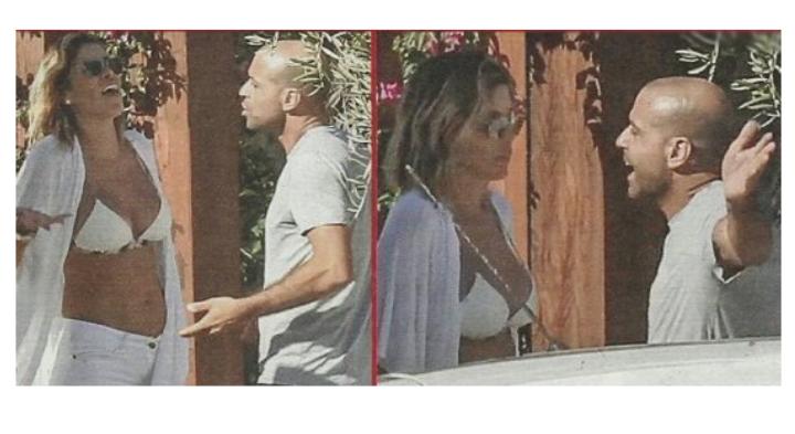 La lite tra Aida Yespica e il fidanzato in vacanza per un capriccio della showgirl (Foto)