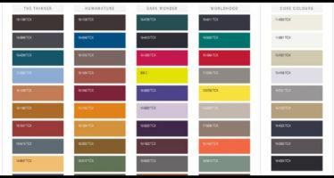 palette colori pantone autunno inverno 2018-2019