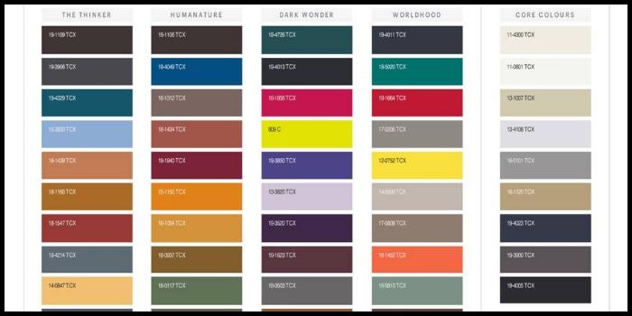 Palette colori Pantone autunno inverno 2018-2019: le sfumature di tendenza