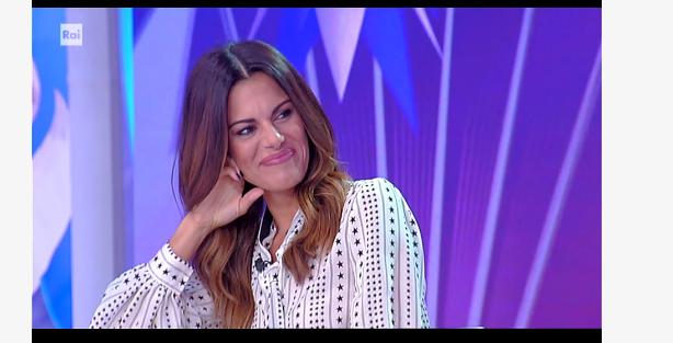 Bianca Guaccero commossa per le parole di Andrea Fabiano alla conferenza stampa di Detto Fatto