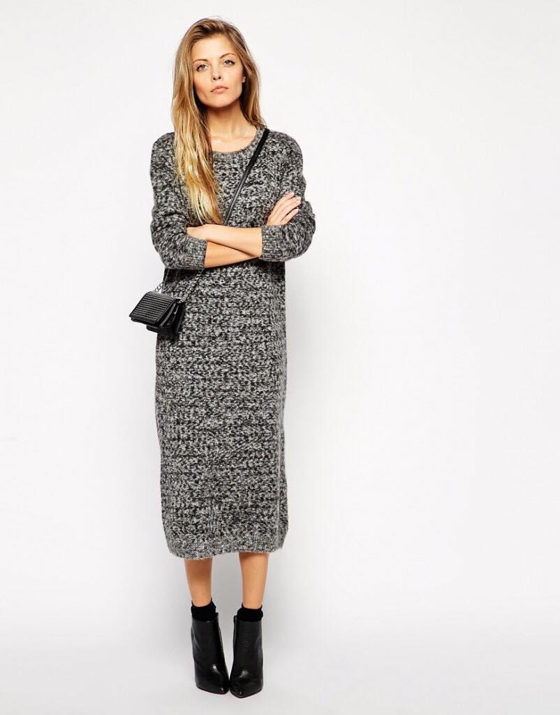 sale retailer 51903 85d2a vestito in maglia lungo grigio | Ultime Notizie Flash