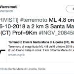Terremoto Catania ultime notizie, dopo il maltempo la terra trema in Sicilia