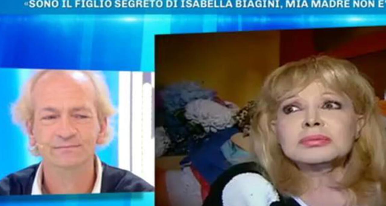 """Il figlio segreto di Isabella Biagini a Domenica Live: """"Le avevano detto che ero morto"""""""