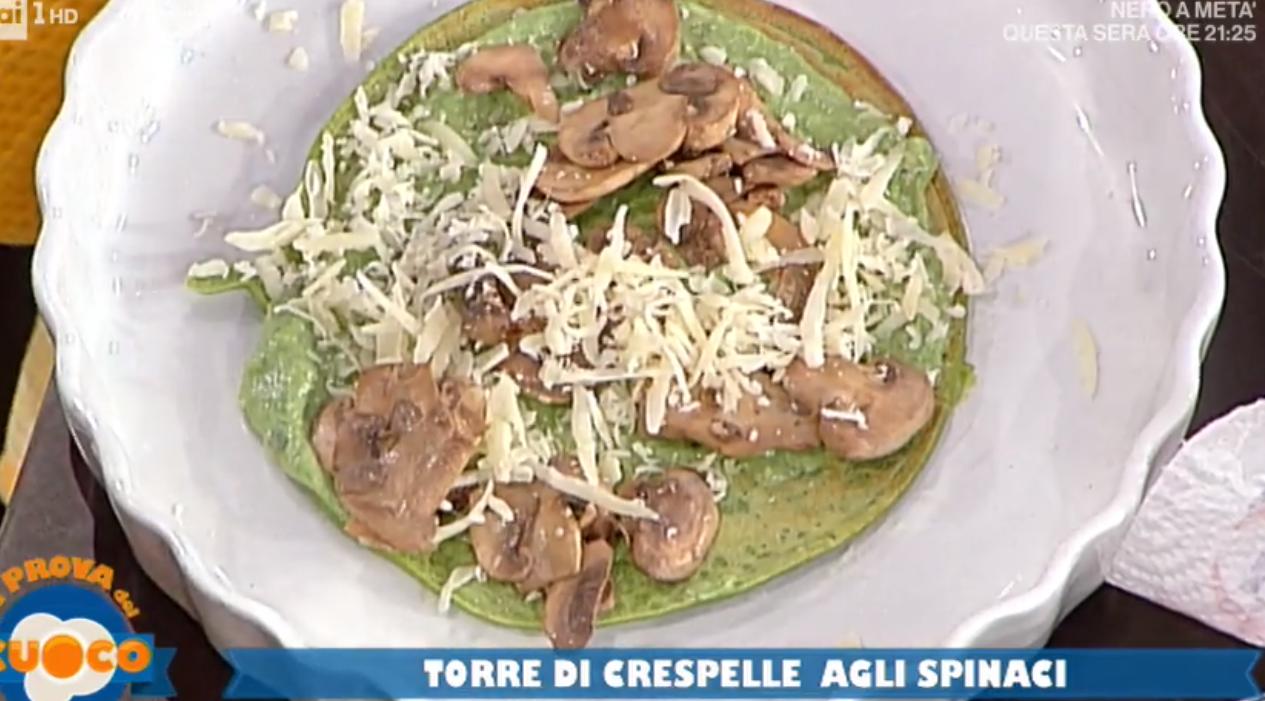 Anna Maria Palma A La prova del cuoco oggi prepara torre di crespelle agli spinaci