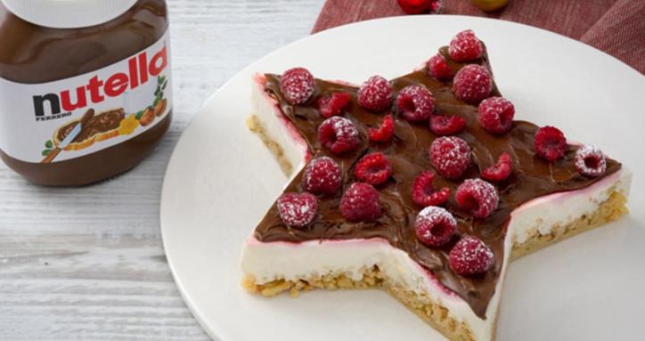 Torta Stella Di Natale.Ricette Dolci Di Natale Facciamo La Cheesecake Stella Con Nutella