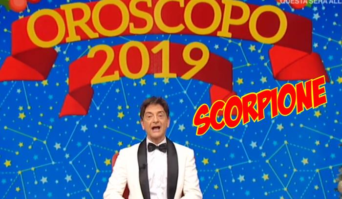 oroscopo scorpione 2019