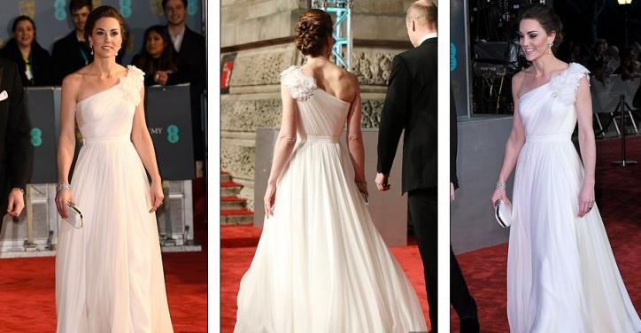 Abito Cerimonia Kate Middleton.Kate Middleton Illumina I Bafta 2019 Con Un Abito Meraviglioso Che