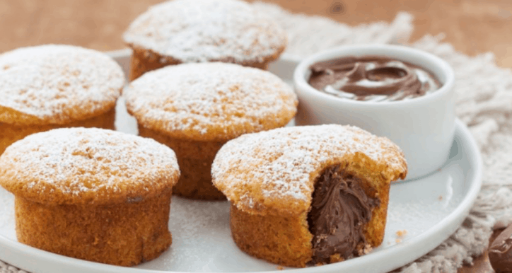muffin con nutella