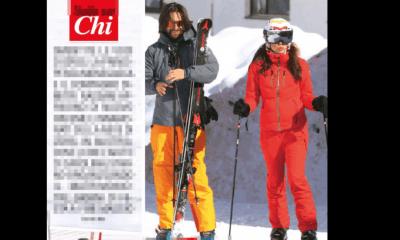 charlotte casiraghi sulla neve
