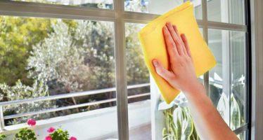 come pulire le finestre