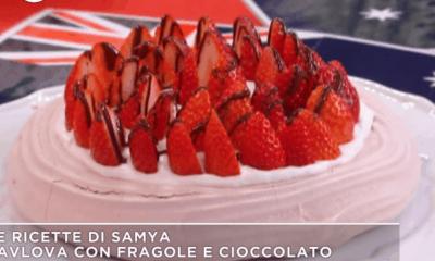 torta fragole ricetta samya