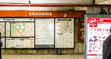roma metro a anagnina chiusa