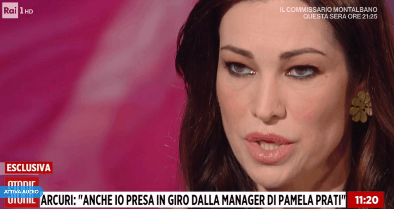 "Manuela Arcuri da Storie Italiane commenta il ""Pamela Prati Gate"" e dice la sua sul caso"