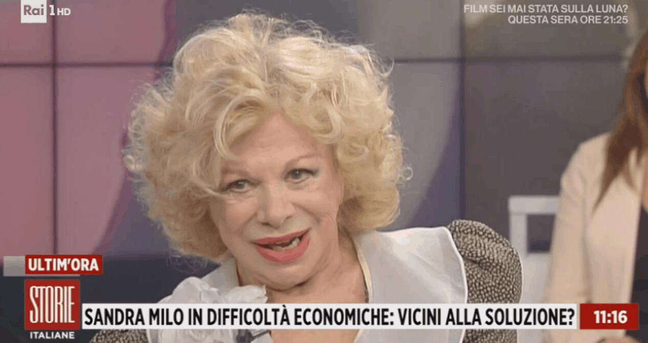 """Storie Italiane Sandra Milo choc: """"Per i debiti mi sono venduta a un uomo"""""""