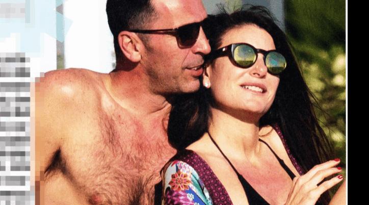 Gigi Buffon e Ilaria D'Amico al mare