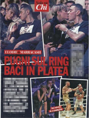Elodie e Marracash, l'ex alunna di Amici e il rapper pizzicati tra un bacio e un incontro di boxe (Foto)
