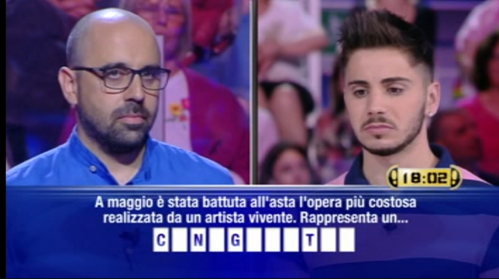 Dopo 88 puntate e 651mila euro Nicolò Scalfi saluta Caduta Libera