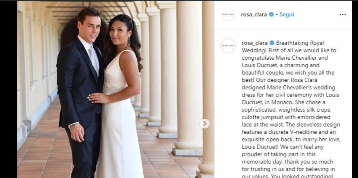 Il matrimonio di Louis Ducruet, il figlio di Stephanie di Monaco ha sposato l'ex compagna d'università (Foto)