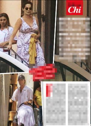 Ilaria Spada e Kim Rossi Stuart lasciano la clinica e tornano a casa con il loro bebè (Foto)