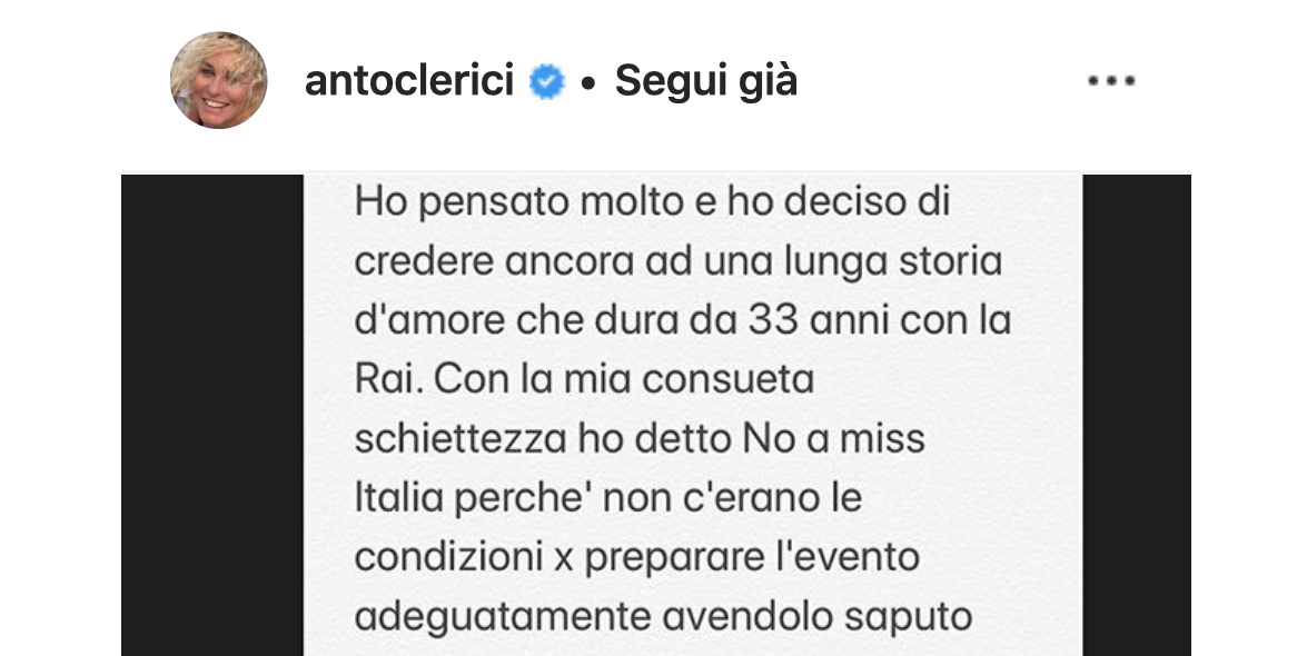 Antonella Clerici rivela al pubblico la sua scelta, il no a Miss Italia e il sì ad altro (Foto)
