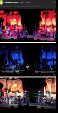 Marica Pellegrinelli a sorpresa al concerto di Eros a Taormina (Foto)