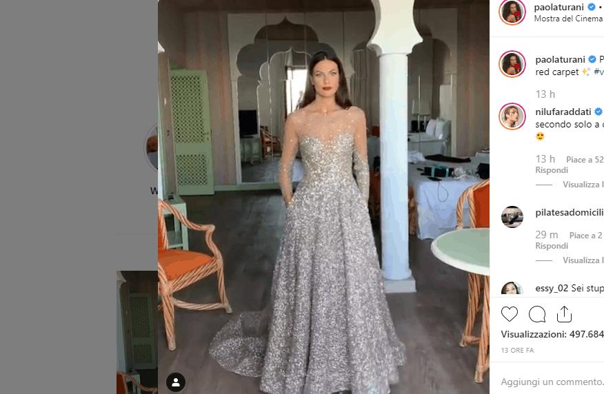 Paola Turani incanta sul Red Carpet a Venezia: brilla come una stella (FOTO)