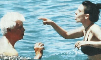 placido e la moglie lite al mare