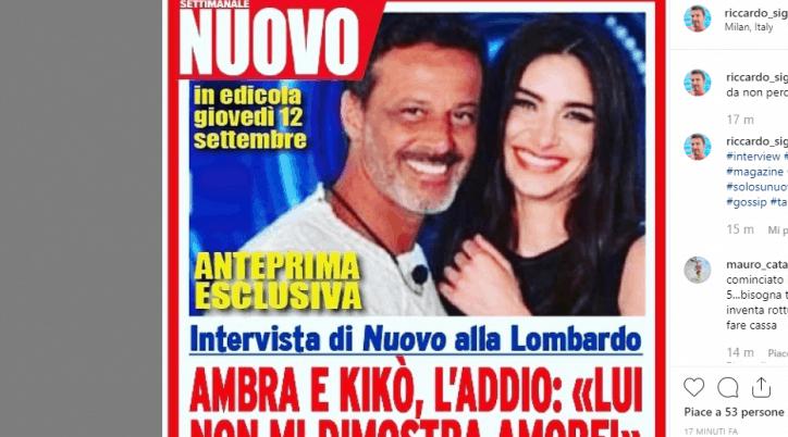 Grande Fratello, Ambra Lombardo e Kiko Nalli si sono lasciati-AMBRA KIKO NEWS