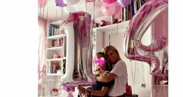 compleanno della figlia di Federica panicucci