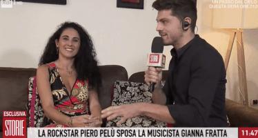 la moglie di Piero Pelù in tv