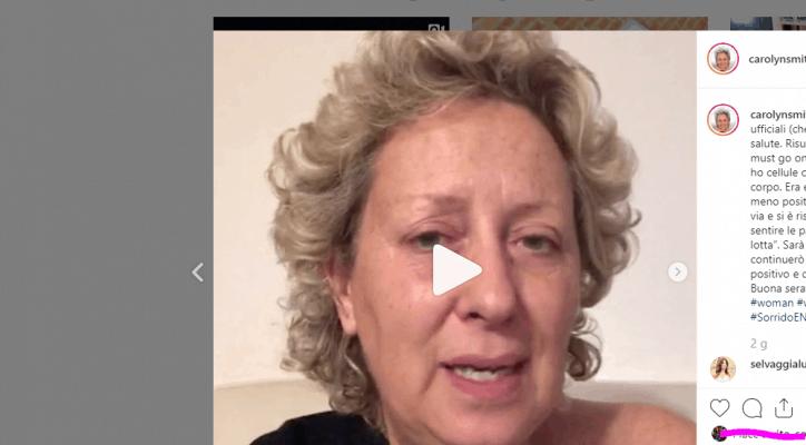 Carolyn Smith dopo la PET Il tumore si risvegliato un po