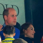 kate William George e charlotte alla partita
