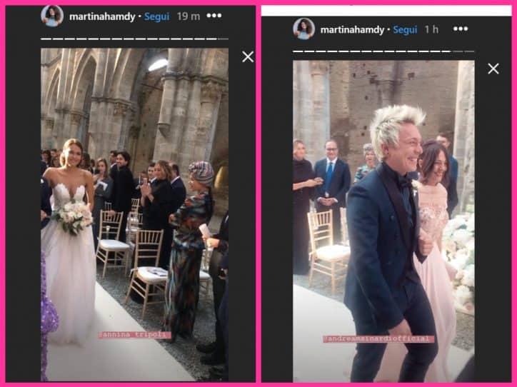 Antonella Clerici radiosa al matrimonio dell'amico Andrea Mainardi