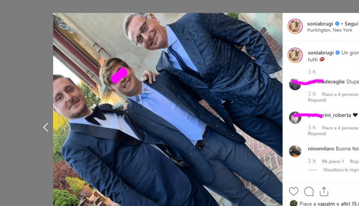 Paolo Bonolis negli States per le nozze del figlio Stefano