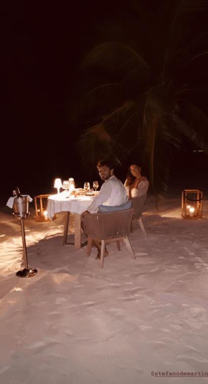 Belen e Stefano alle Maldive, dalla colazione alla cena ogni dettaglio è da favola (Foto)