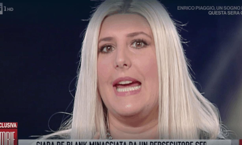 Giada De Blanck a Storie Italiane, il terrore vissuto per i regali e le minacce di un persecutore seriale (Foto)