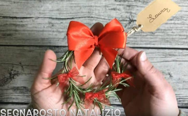 segnaposto natalizi rosmarino