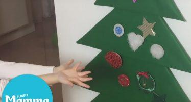 albero di natale in feltro bambini