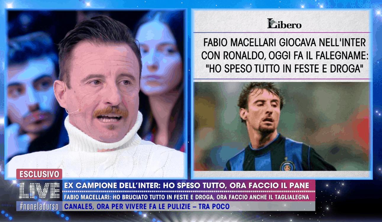 Fabio Macellari da calciatore a panettiere: il racconto della nuova vita a Live-Non è la d'Urso