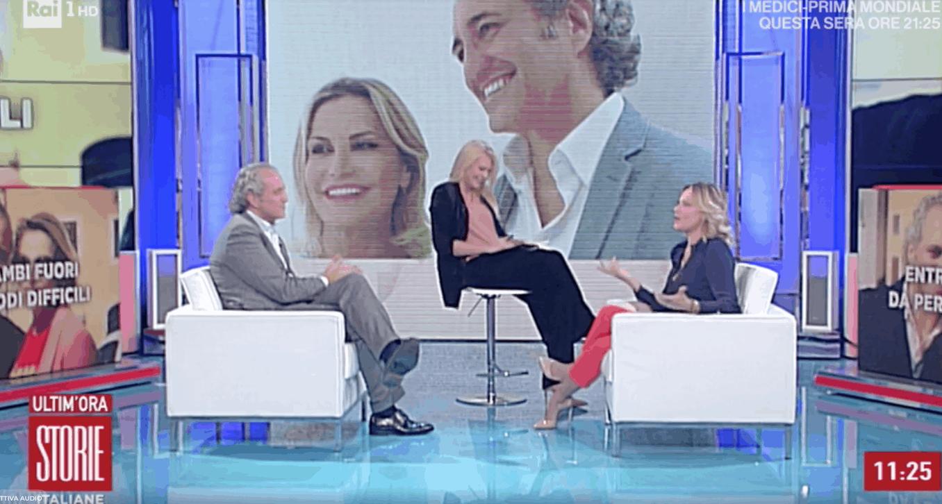 Simona Ventura e Giovanni Terzi a Storie Italiane, l'anello come pegno d'amore e le nozze così desiderate (Foto)