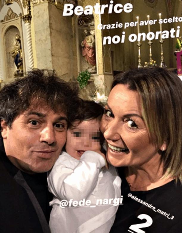 Il battesimo di Beatrice, Federica Nargi e Alessandro Matri festeggiano la piccola di casa (Foto)