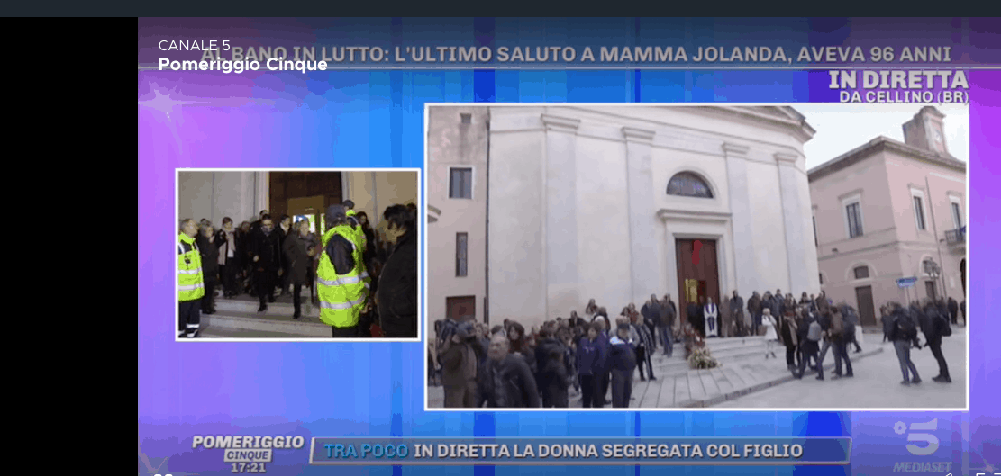 Al funerale di mamma Jolanda tutta Cellino San Marco accanto alla famiglia di Al Bano (Foto)