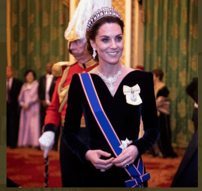 Che stile Kate Middleton: con la tiara di Lady Diana fa le prove da Regina (FOTO)