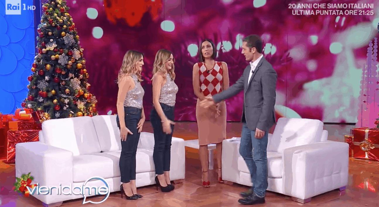 Cora e Marilù Fazzini a Vieni da me, la maleducazione delle gemelle sottolineata da Caterina Balivo (Foto)