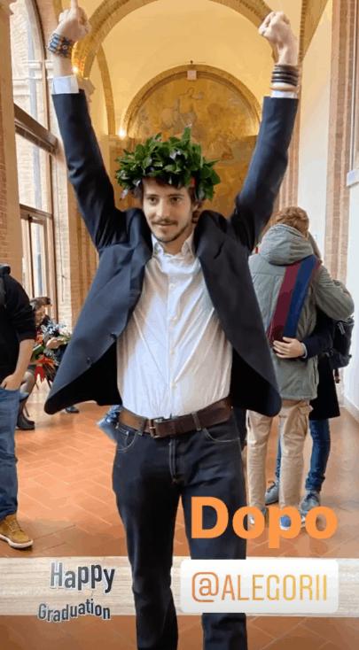 Cristina Parodi festeggia la laurea del figlio a Siena (Foto)
